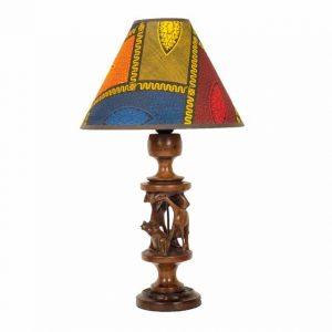 LAMPA AFRYKAŃSKA Z MAHONIU