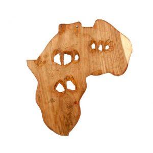 PŁASKORZEŹBA Z DREWNA MAHONIOWEGO Z ZAMBII AFRYKA
