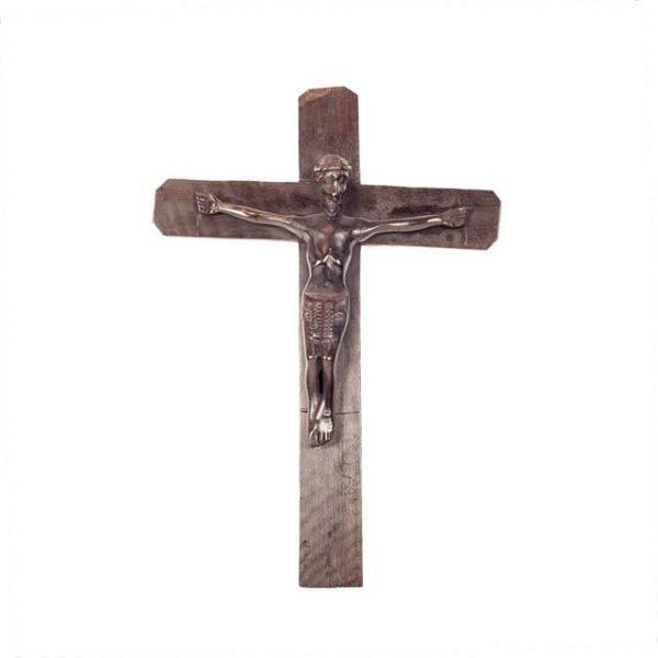 HEBANOWY KRZYŻ Z JEZUSEM  Z MOZAMBIKU