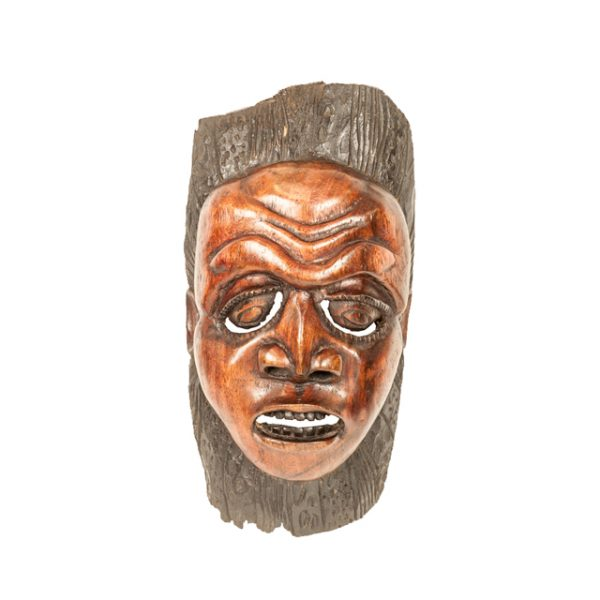 MASKA NGONI Z DREWNA MAHONIOWEGO MALAWI