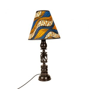 HEBANOWA LAMPA ZE SŁONIEM