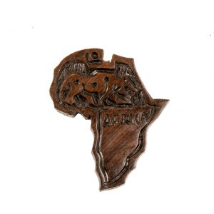 MAGNES HEBANOWY AFRYKA Z LEOPARDEM