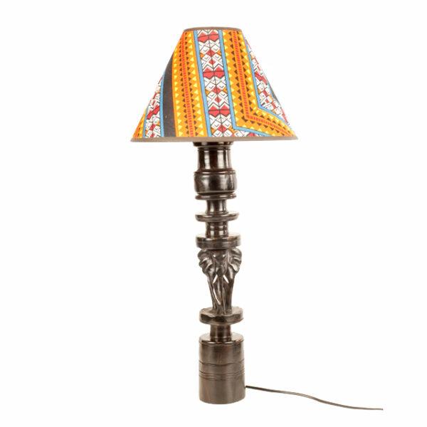 LAMPA HEBANOWA ZE SŁONIEM Z TANZANII